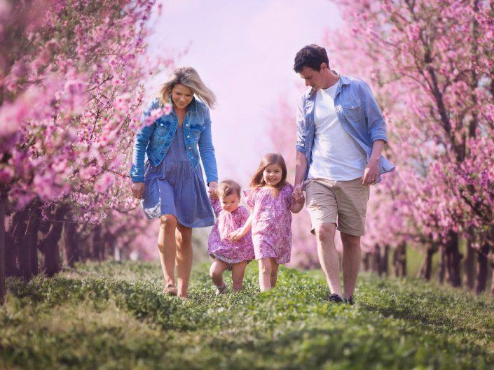 Pink Flower Family